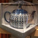 Disney Parks Iconic Mickey Mouse Blue Ceramic Tea Pot New in Box
