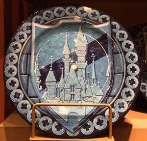 "Disney Parks Disney Castle Decorative Rim 11"" Dinner Plate New"