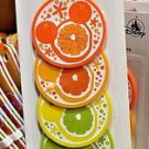 Disney Parks Exclusive Mickey Mouse Icon Citrus Coaster Set of 4 New and Sealed
