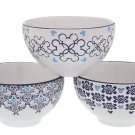 Disney Parks Indigo Icon Mickey Mouse Bowls Set of 3 New