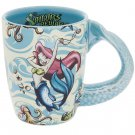 Disney Parks Pirates of The Caribbean Mermaid Fin Unique Handle Cup Mug New