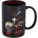 Disney Parks Mickey Mouse Rock N Roller Coaster Ceramic Black Mug Cup New