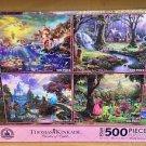 Disney Parks Thomas Kinkade Ariel Snow White Cinderella Aurora Puzzle Set of 4 New