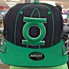 Six Flags Magic Mountain DC Green Lantern Striped Adjustable Snapback Hat Cap