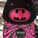 Six Flags Magic Mountain DC Batgirl Pink Logo Adjustable Snapback Hat Cap New
