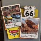 DISNEY PARK DCA PIXAR CARS CARS LAND ROUTE 66 RACE YOU THERE! COLLAGE MAGNET NEW