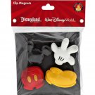 DISNEY PARKS EXCLUSIVE MICKEY MOUSE BODY PARTS CLIP MAGNET SET OF 4 NEW SEALED