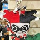 Six Flags Magic Mountain DC Comics Harley Quinn Big Plush Keychain New