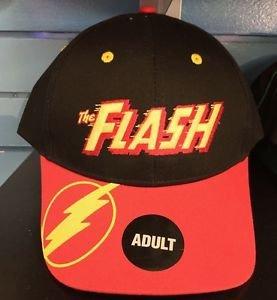 Six Flags Magic Mountain DC The Flash Thunderbolt on Lip Snapback Hat Cap New