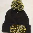 Disney Parks Star Wars Black and Yellow New Era Beanie Headwear Brand New