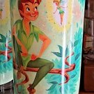 DISNEY PARKS NEVER LAND PETER PAN AND TINKER BELL TALL GLASS CUP NEW