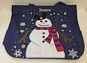 Disneyland Resort Snow Man Christmas Canvas Tote Bag New with Tags