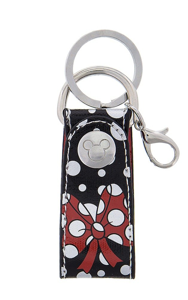 Disney Parks Exclusive Minnie Mouse Polka Dot Bow Keychain New