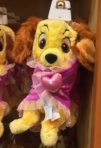 """Disney Parks Lady and The Tramp with Blanket 10"""" Plush Doll Disney Babies New"""