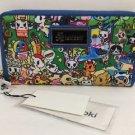 Tokidoki Summer Splash Large Zippered Wallet New with Tags