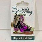 Disney Parks 2016 Seasons Greetings Maleficent Dragon ICE SKATES LE Disney Pin