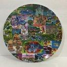 "Disney Parks Magic Kingdom Classic Retro Map 6"" Melamine Plate New"