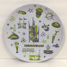 """Disney Park Exclusive 7"""" Plate Feat. Tomorrowland Icons New"""