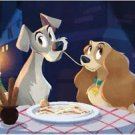 Disney WonderGround Gallery Lady and The Tramp Deluxe Print by Bill Robinson New