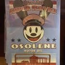 Disney Parks Exclusive Oswald The Lucky Rabbit OSOLENE MOTOR OIL Metal Sign New