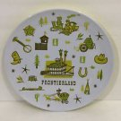 "Disney Parks 7"" Plate Feat. Frontierland Icons New"