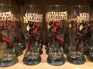 DISNEY PARKS PIRATES OF THE CARIBBEAN OCTOBER FEST GLASS CUP NEW (SET OF 2)
