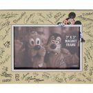 Disney Parks Exclusive Mickey Mouse & Character Autograph Wood Magnet Frame New