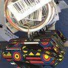 Six Flags Magic Mountain DC Comics Superman Shield Keyring Metal Keychain New