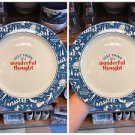 DISNEY PARKS PETER PAN JUST THINK OF WONDERFUL THOUGHT PLATE NEVER LAND SET OF 2