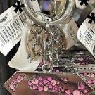 Six Flags Magic Mountain DC Comics Supergirl Pink Logo Metal Keychain New