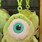 DISNEY PARKS BABY CUTIES MONSTERS INC. MIKE WAZOWSKI PLUSH KEYCHAIN NEW