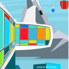 Disney WonderGround Gallery House of The Future Postcard by Michael Murphy New