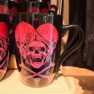 Disney Parks Pirates of the Caribbean Cross Bone Ceramic Mug Cup New