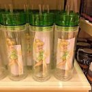Disney Parks Tinker Bell Travel Cup Tumbler With Straw New
