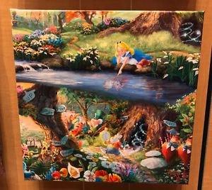 Disney Parks Alice In Wonderland Canvas Wrap Print by Thomas Kinkade Studios New