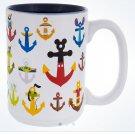 Disney Parks Mickey & Friends Icon Anchors Character Anchors Stoneware Mug New