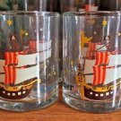 DISNEY PARKS NEVER LAND PETER PAN JOLLY ROGER SHOT GLASS NEW (SET OF 2)