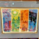 Disney Parks Disneyland Castle Seasons of Magic Deluxe Print by Mike Peraza New