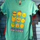 Six Flags Magic Mountain Adult Emoji T-Shirt SIZE S,M,L XL,XXL New