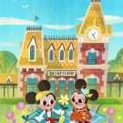 Disney WonderGround Mickey & Minnie Mouse Meet You At Main St Postcard Joey Chou