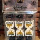 Disney Parks Disneyland Castle Metal Binder Clips Set of 6 New & Sealed
