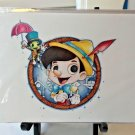 Disney WonderGround Pinocchio and Jiminy Postcard by Chris Uminga New