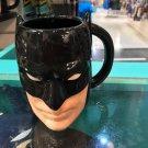 Six Flags Magic Mountain Dc Comics Raised Batman Face 3-D Ceramic Mug Cup New