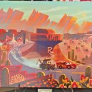 Disney WonderGround Cars Race Around Radiator Springs LE Giclee by Joey Chou New