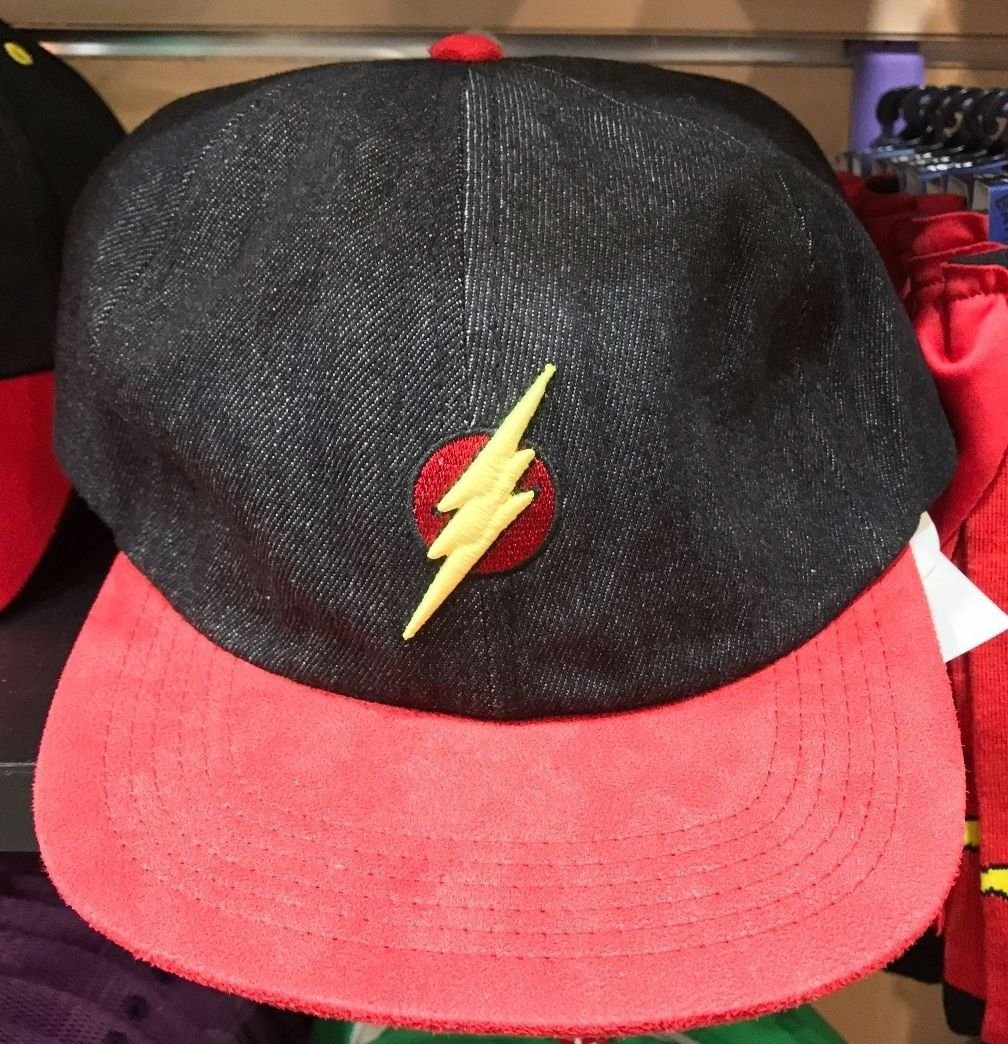 Six Flags Magic Mountain Dc Comics The Flash Jean Adjustable Baseball Hat New