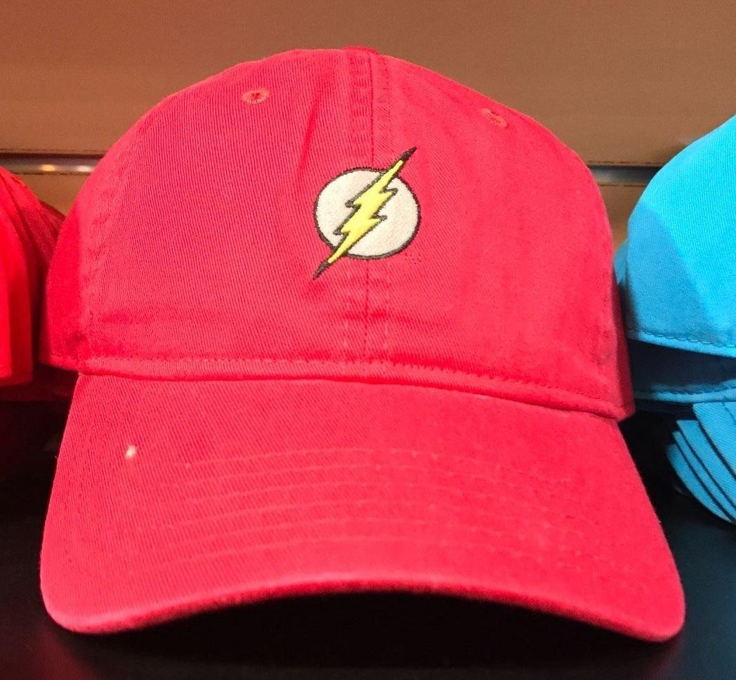 Six Flags Magic Mountain Dc Comics Classic Flash Adjustable Baseball Hat New