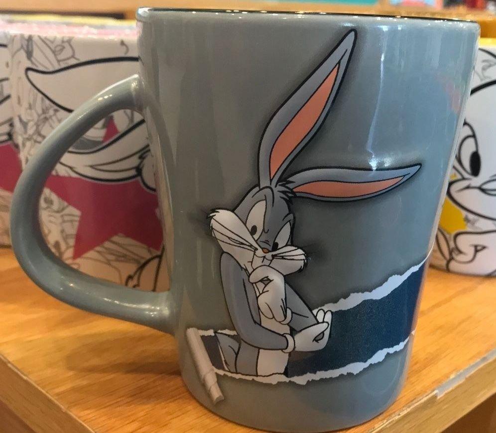 Six Flags Magic Mountain Looney Tunes Bugs Bunny 16oz. Tear Ceramic Mug New