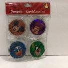 Disneyland Walt Disney World 4 Acrylic Keychains Mickey Minnie Goofy Donald New