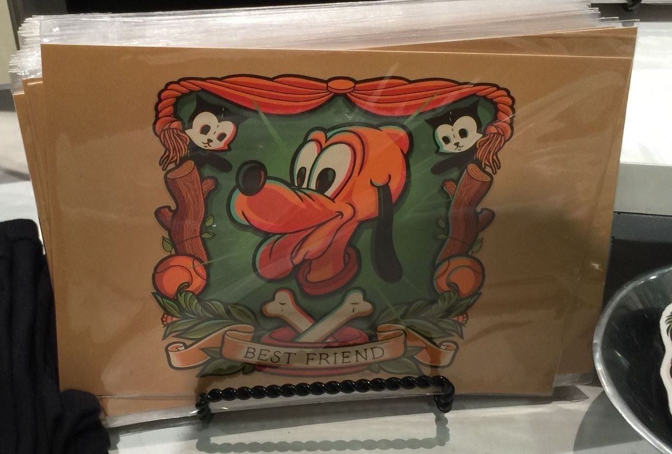 Disney WonderGround Gallery Pluto Postcard by Dave Quiggle New