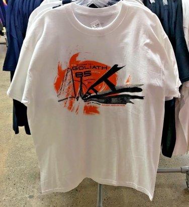 Six Flags Magic Mountain Goliath The Ride Men's White T-Shirt SIZE: S,M,L XL,XXL